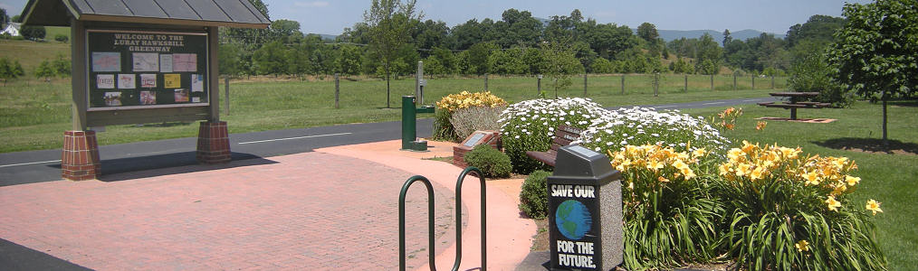 Plaza Entrance on the Luray Hawksbill Greenway